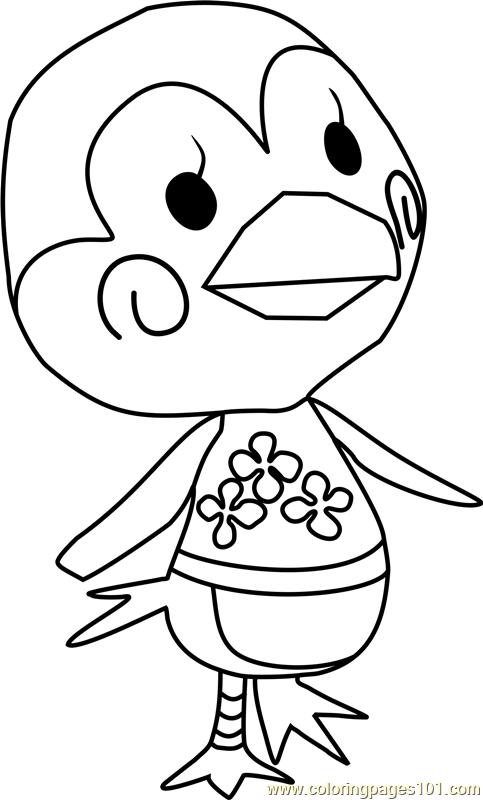 Midge Animal Crossing Coloring Page Free Animal Crossing