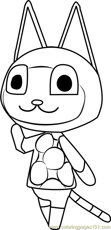 mitzi animal crossing coloring page