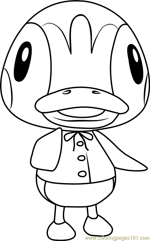 Molly Animal Crossing Coloring Page