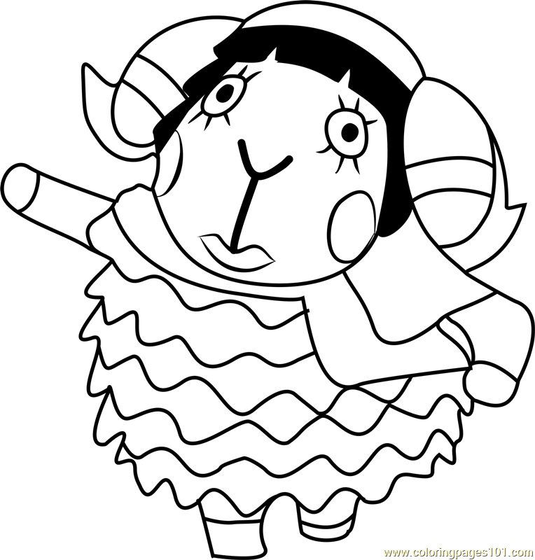 Muffy Animal Crossing Coloring Page