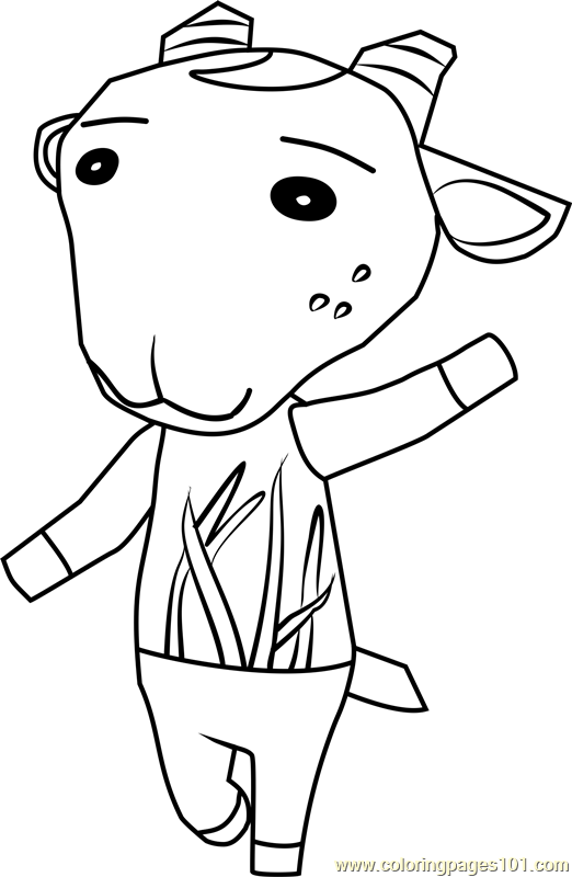Nan Animal Crossing Coloring Page Free Animal Crossing