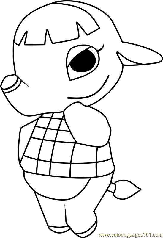 Opal Animal Crossing Coloring Page