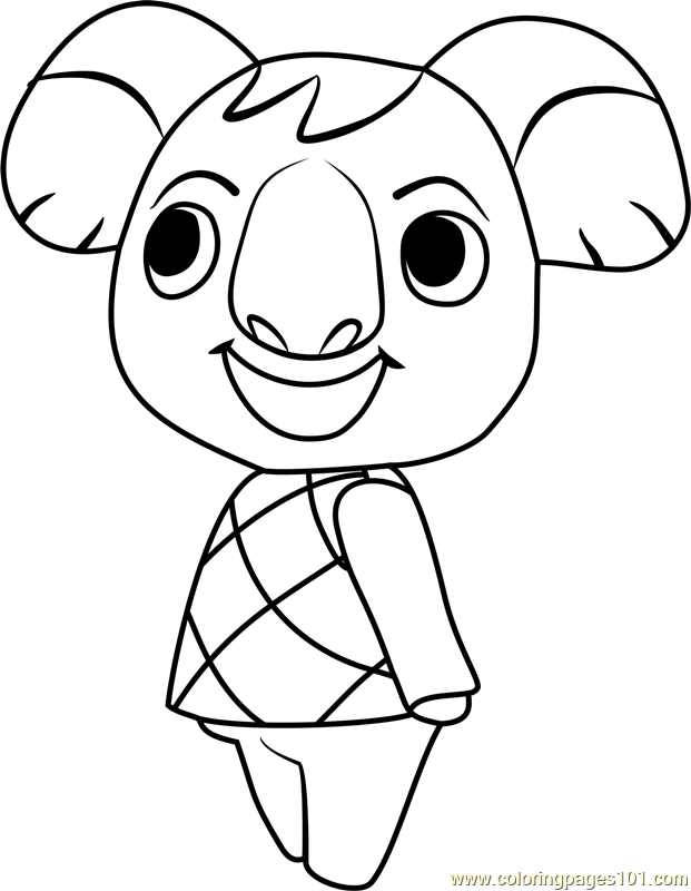 Ozzie Animal Crossing Coloring Page For Kids Free Animal Crossing Printable Coloring Pages Online For Kids Coloringpages101 Com Coloring Pages For Kids