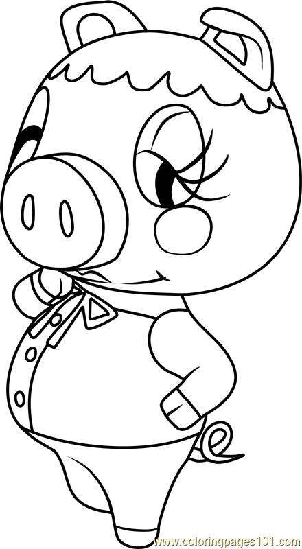 Pancetti Animal Crossing Coloring Page Free Animal