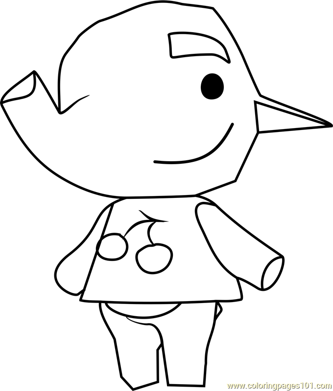 Paolo Animal Crossing Coloring Page