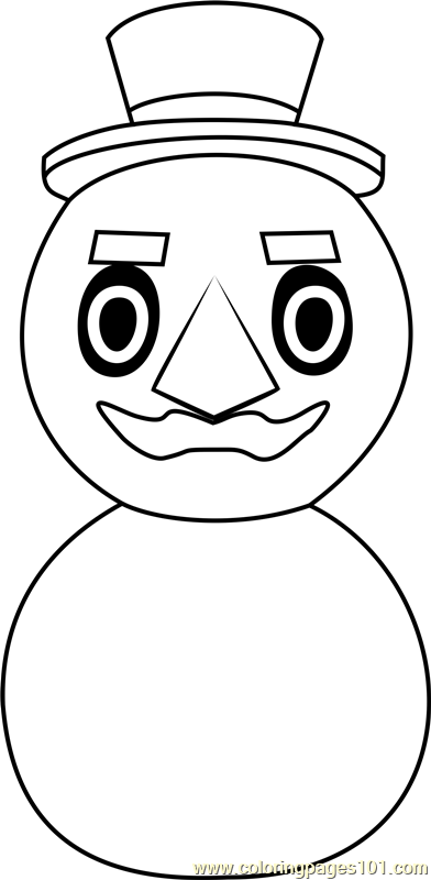 Papa Snowman Animal Crossing Coloring Page