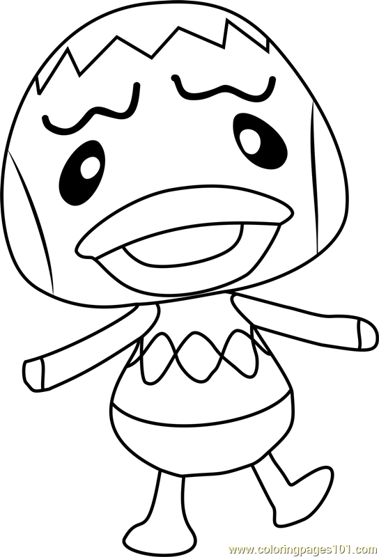 Pate Animal Crossing Coloring Page