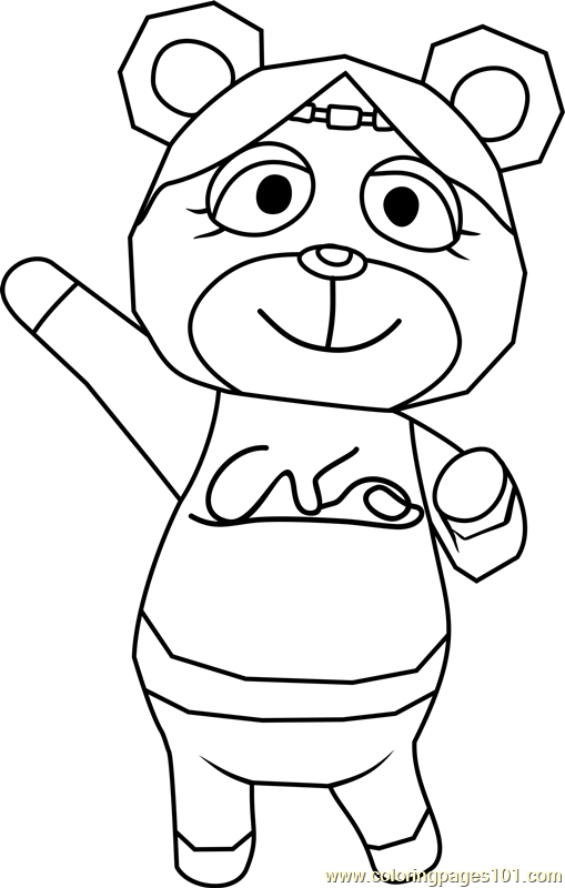 Paula Animal Crossing Coloring Page