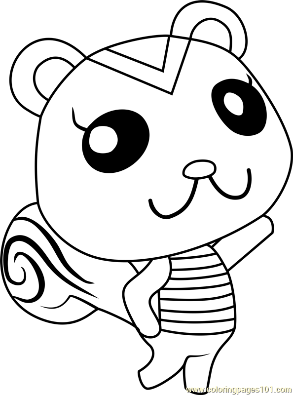 peanut animal crossing coloring page