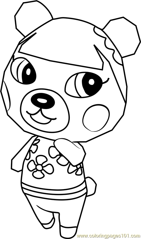Pekoe Animal Crossing Coloring Page Free Animal Crossing