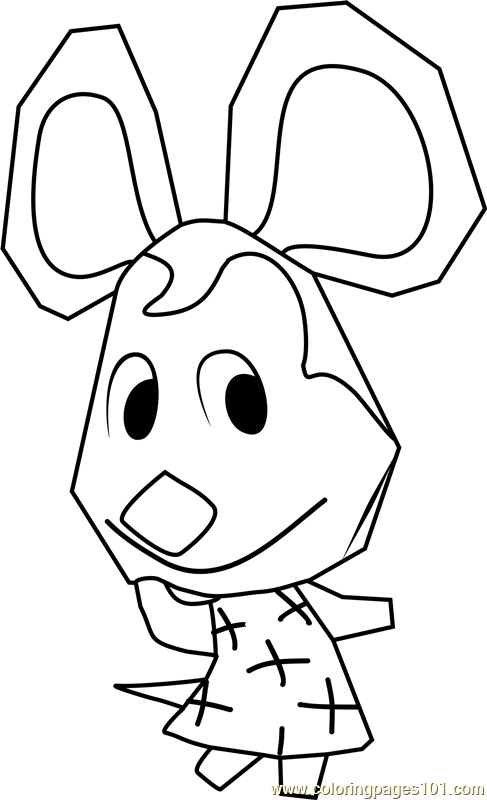 Penny Animal Crossing Coloring Page
