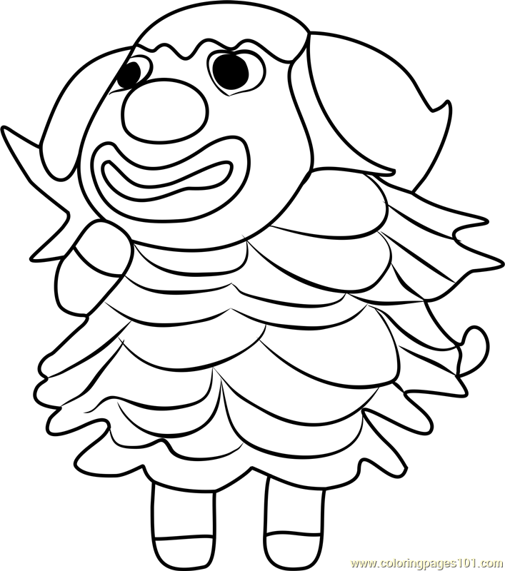 Pietro Animal Crossing Coloring Page