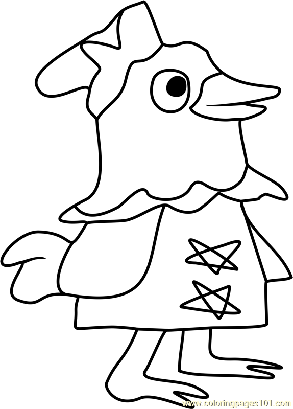Plucky Animal Crossing Coloring Page