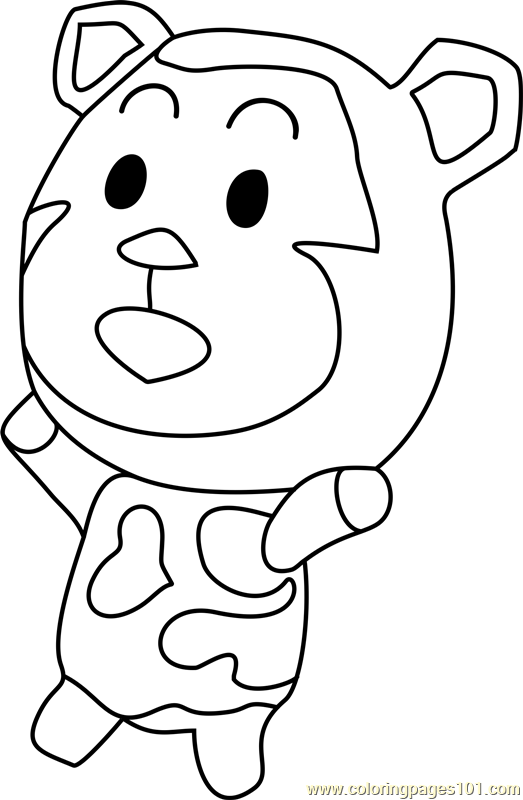 Poko Animal Crossing Coloring Page