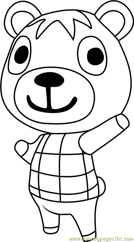 poncho animal crossing coloring page