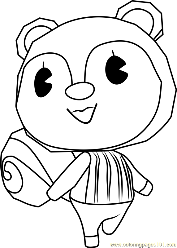 Poppy Animal Crossing Coloring Page Free Animal Crossing