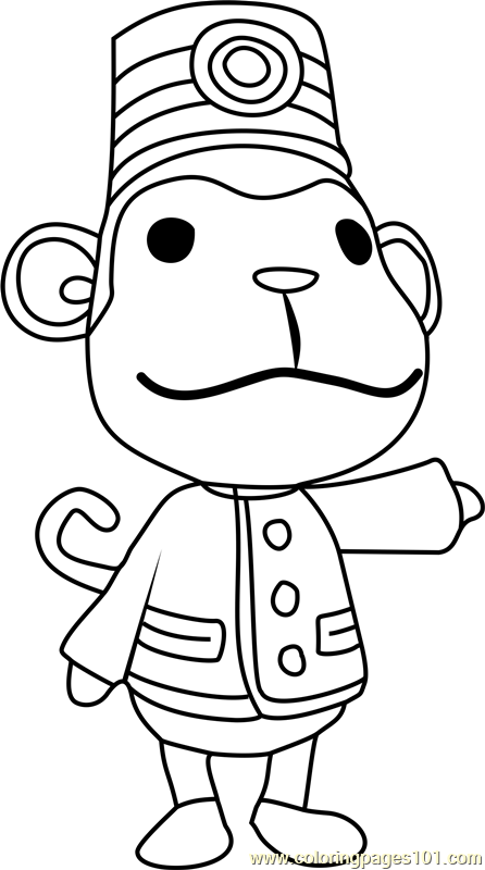porter animal crossing coloring page free animal
