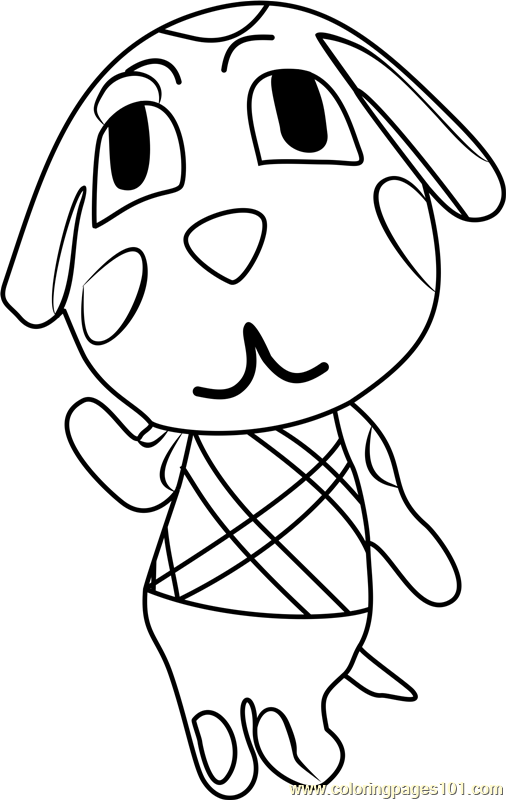 portia animal crossing coloring page