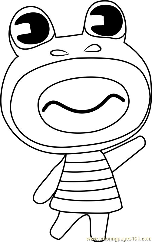 Prince Animal Crossing Coloring Page