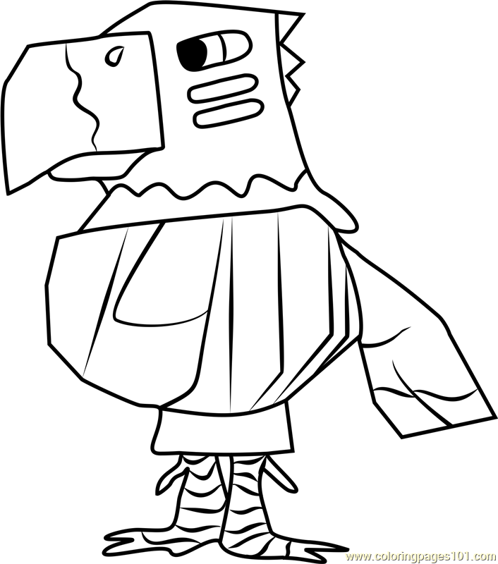 Beautiful Quetzal Animal Crossing Coloring Page