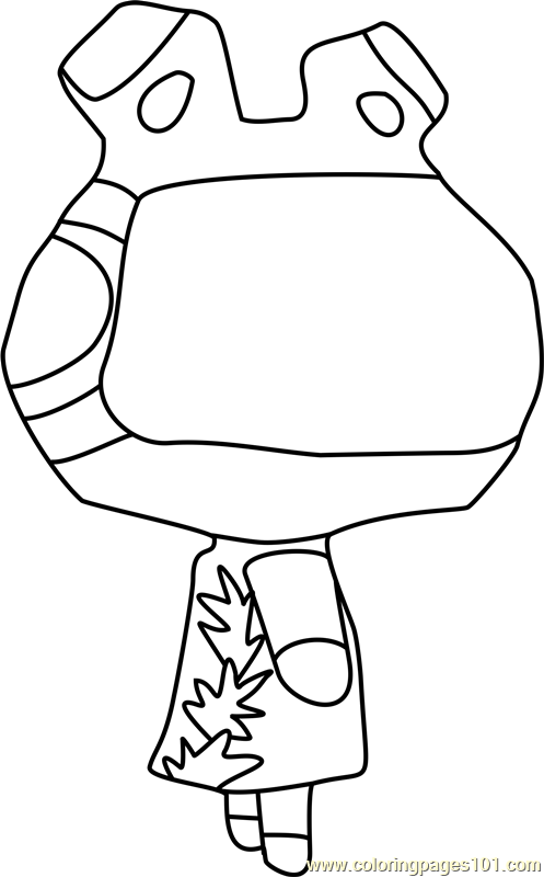 Raddle Animal Crossing Coloring Page