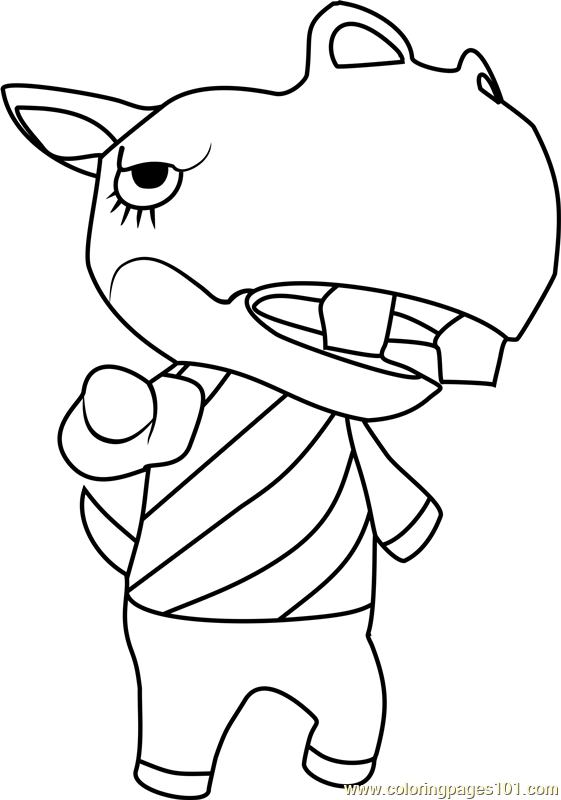 Rocco Animal Crossing Coloring Page