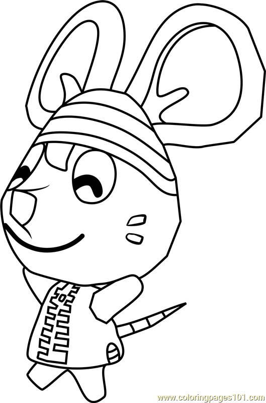 Rod Animal Crossing Coloring Page