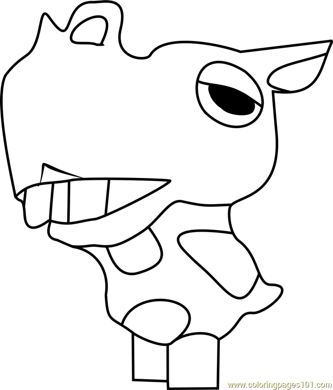 Rollo Animal Crossing Coloring Page