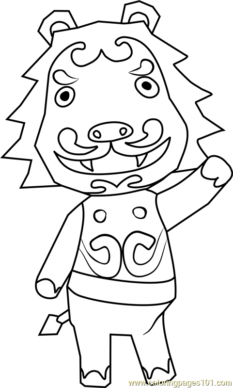 Rory Animal Crossing Coloring Page Free Animal Crossing