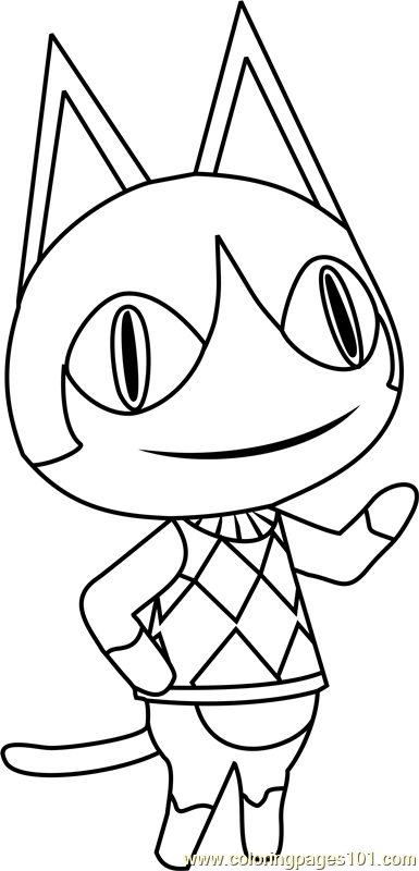 rover animal crossing coloring page