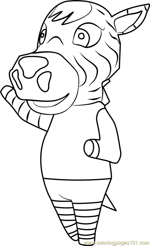 savannah animal crossing coloring page