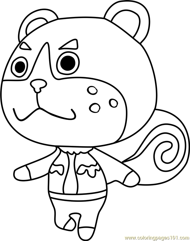 Sheldon Animal Crossing Coloring Page