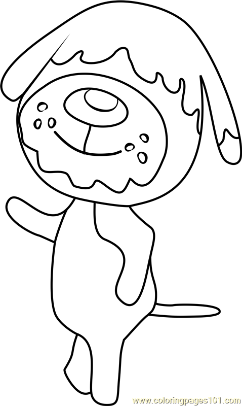 Shep Animal Crossing Coloring Page