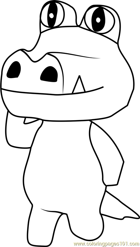 Sly Animal Crossing Coloring Page
