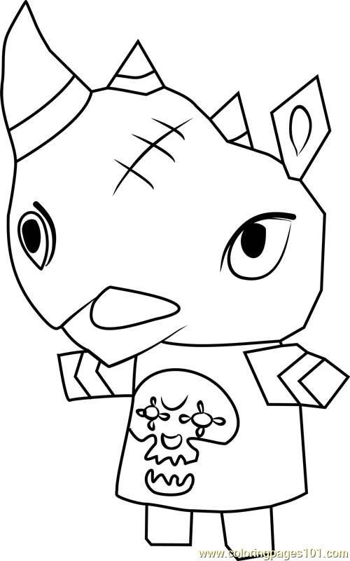 Spike Animal Crossing Coloring Page