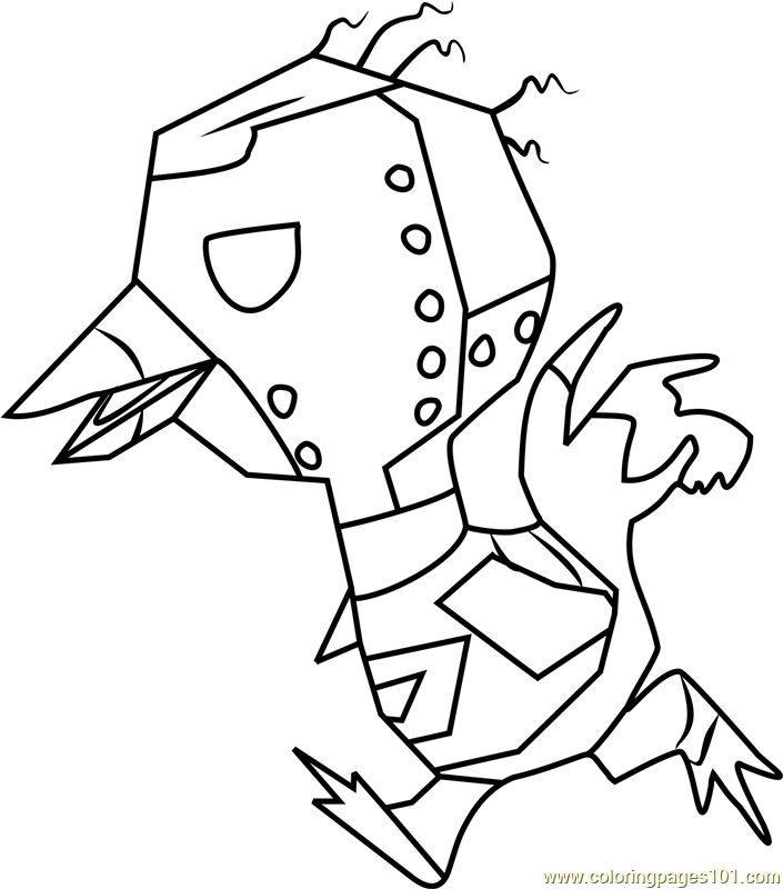 Sprocket Animal Crossing Coloring Page
