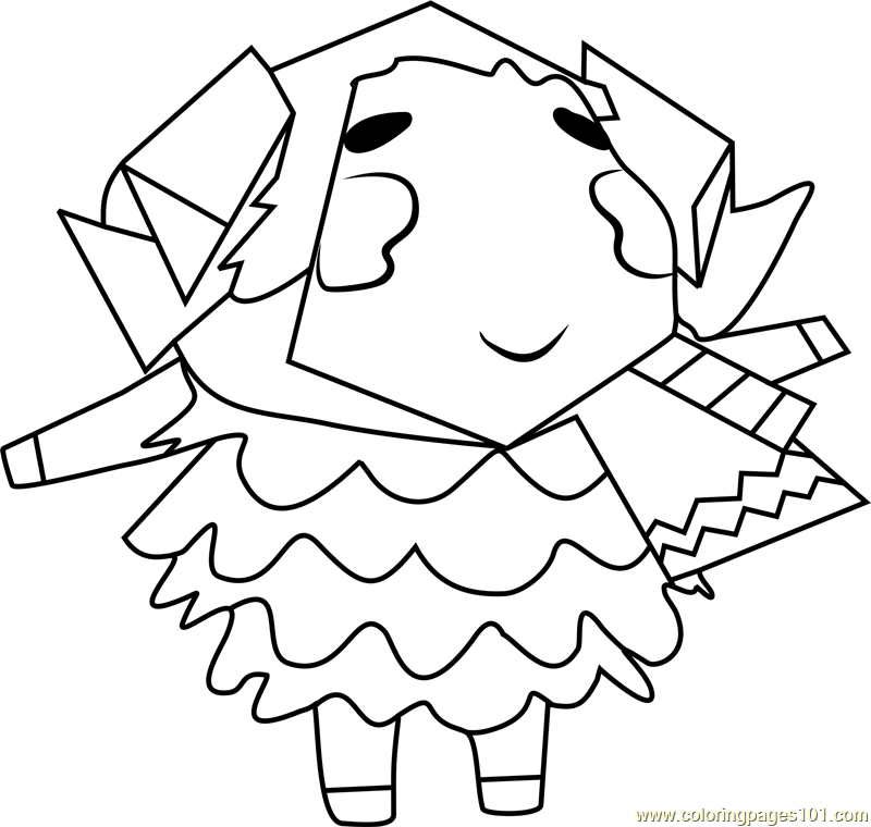 Stella Animal Crossing Coloring Page