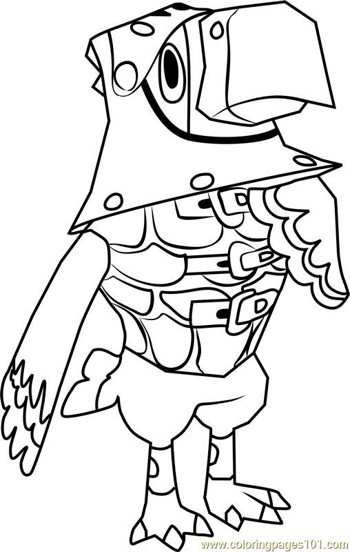 Sterling Animal Crossing Coloring Page - Free Animal ...
