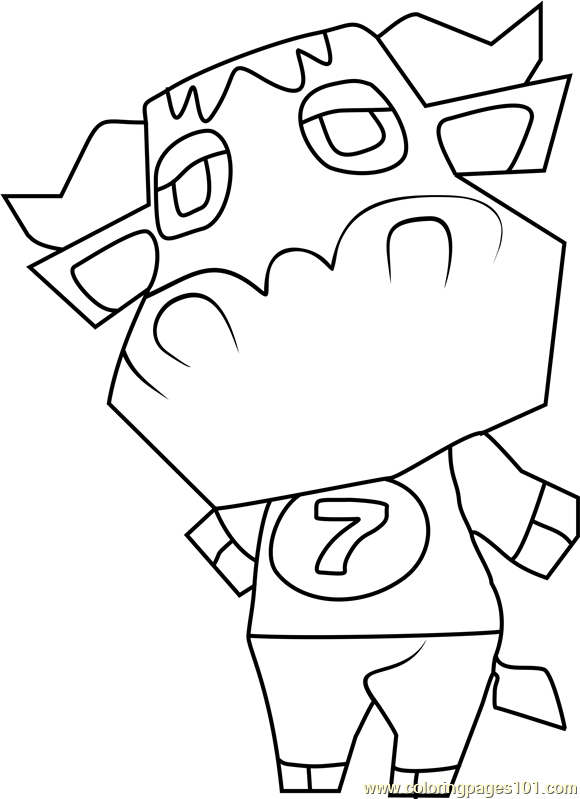 Stu Animal Crossing Coloring Page