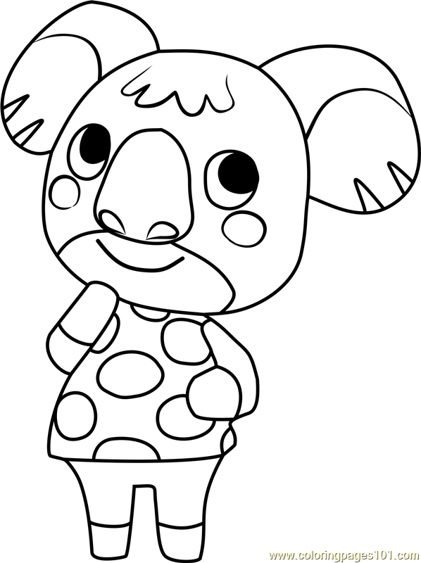 Sydney Animal Crossing Coloring Page - Free Animal ...