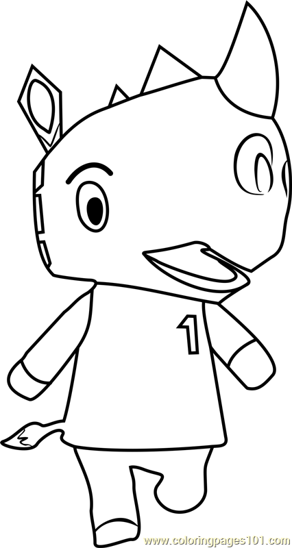 Tank Animal Crossing Coloring Page