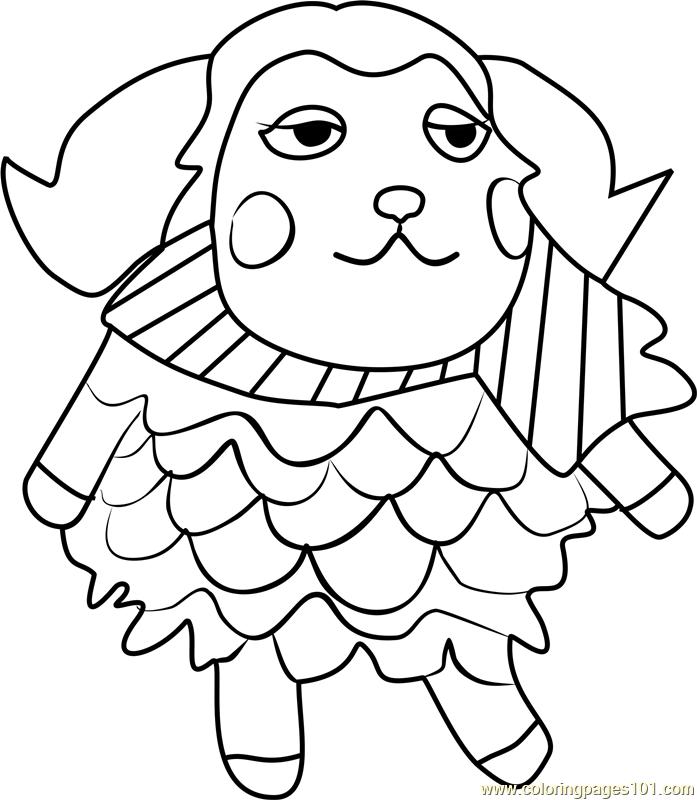 Timbra Animal Crossing Coloring