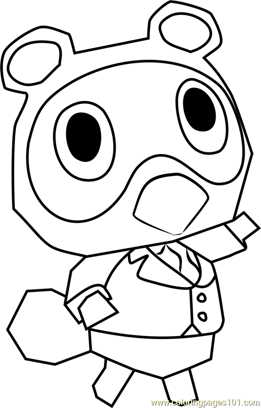 timmy animal crossing coloring page