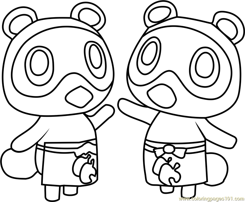 timmy and tommy animal crossing coloring page