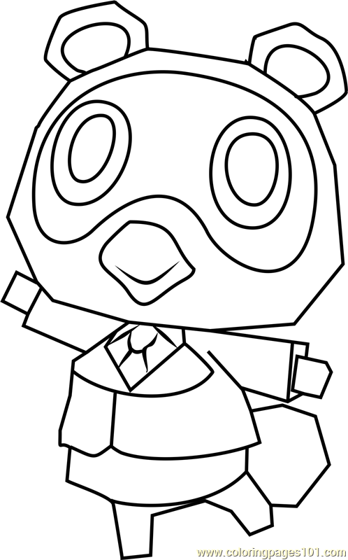 Tommy Animal Crossing Coloring Page
