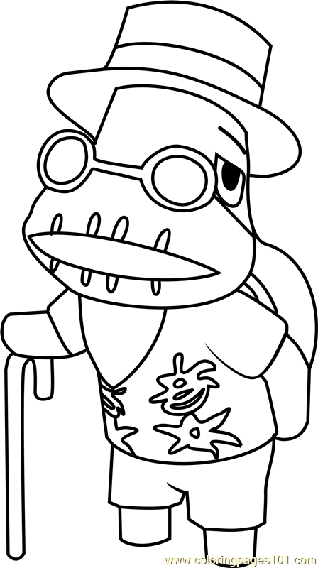 Tortimer Animal Crossing Coloring Page