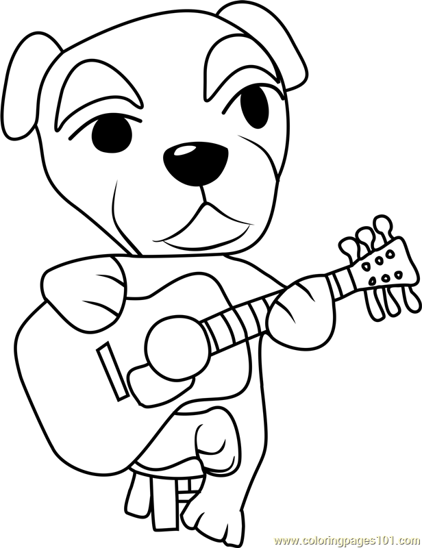 totakeke k k slider animal crossing coloring page