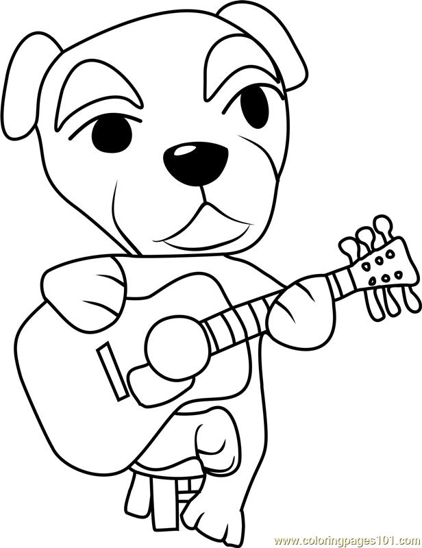 totakeke k k slider animal crossing coloring page  free