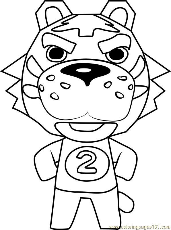 Tybalt Animal Crossing Coloring Page
