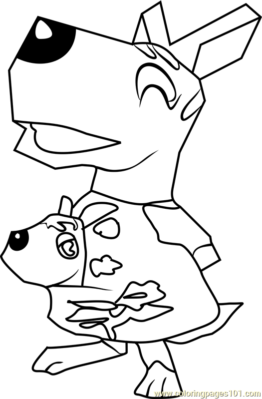 Valise Animal Crossing Coloring Page